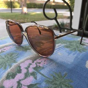 Vintage Rose Tint Oversized Sunglasses